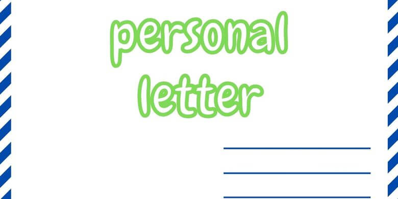 contoh personal letter